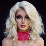 peluca lace front ondulada rubia platino. Una peluca muy elegante, peluca lace front, de encaje frontal, peluca de cordon o encaje, peluca cosida a mano, de monofilamento