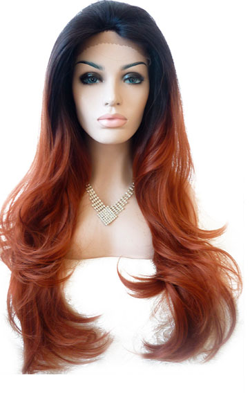 peluca lace front muy larga ondulada con mechas californianas. Una peluca muy solicitada, elegante sexy y que siempre queda bien, peluca ajustable