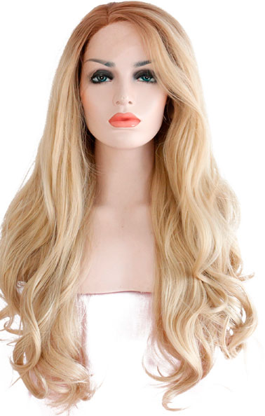 peluca ajustable indetectable rizada rubia dorado. Una peluca muy solicitada, elegante sexy y que siempre queda bien, peluca ajustable gracias a unas cintas