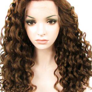 peluca indetectable ajustable rizada marron castaño. Una peluca muy demandada, elegante sexy y que siempre queda bien, peluca ajustable gracias a unas cintas