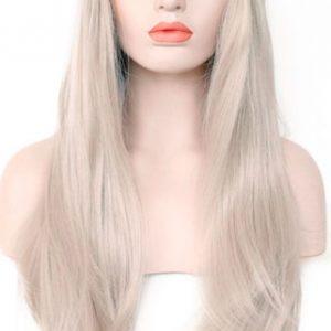 peluca rubia tirando a gris lisa Indetectable ajustable. Una peluca muy demandada, elegante sexy y que siempre queda bien, peluca ajustable gracias a unas cintas que lleva incorporadas