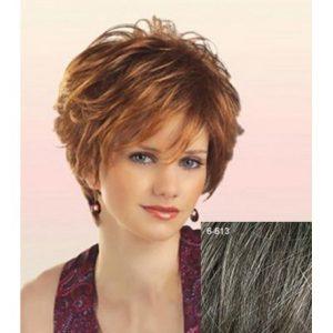 peluca corta cabello humano
