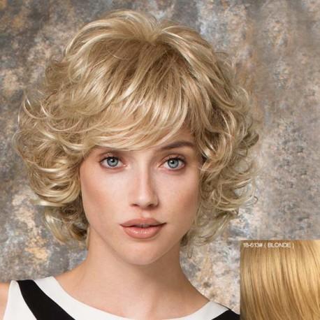 peluca corta ondulada cabello humano