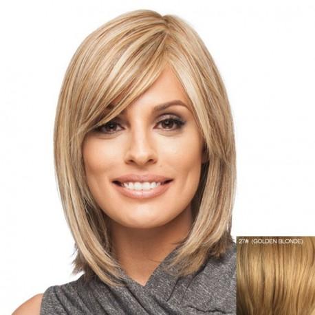 Peluca natural recta lisa sin tapa media melena peluca - Peinados media melena recta ...