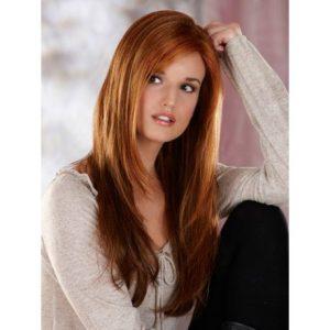 peluca color caoba, preciosa peluca de pelo largo, a capas, cobrizo, peluca de fibra kenakalon resistente al calor máximo 130º color rojizo oscuro, sin tapa. Peluca ajustable
