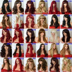 pelucas baratas resistentes al calor. varios modelos, pelucas largas cortas, todos los colores, sedosas, nadie nota que llevas peluca