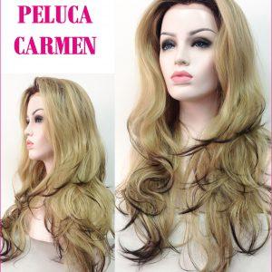 Peluca larga ondulada. Es una peluca especialmente larga hasta la cintura. Esta peluca es espectacular muy bonita, atractiva y sexy. La cantidad de cabello hace que sea cómoda de llevar y manejable el pelo para moldearlo y peinarlo a tu gusto