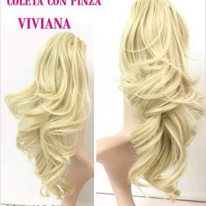 Coleteros de colágeno. Una alternativa al pelo humano, resistente al calor. Cambia de look en segundos, coletero con pinza. Coletero rubio- Disponible en todos los colores.