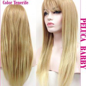 peluca natural lisa larga rubia. Una peluca muy fina y elegante, peluca de color rubio claro, queda muy bonita, Barby es un modelo de los mas vendidos, es ligera no tiene excesivo cabello con lo cual es muy cómoda de llevar muy natural