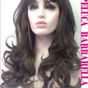 peluca de pelo natural larga rizada. Una peluca muy elegante, queda muy bonita esta peluca es un modelo muy solicitado, tiene un cabello sedoso y es muy cómoda de llevar