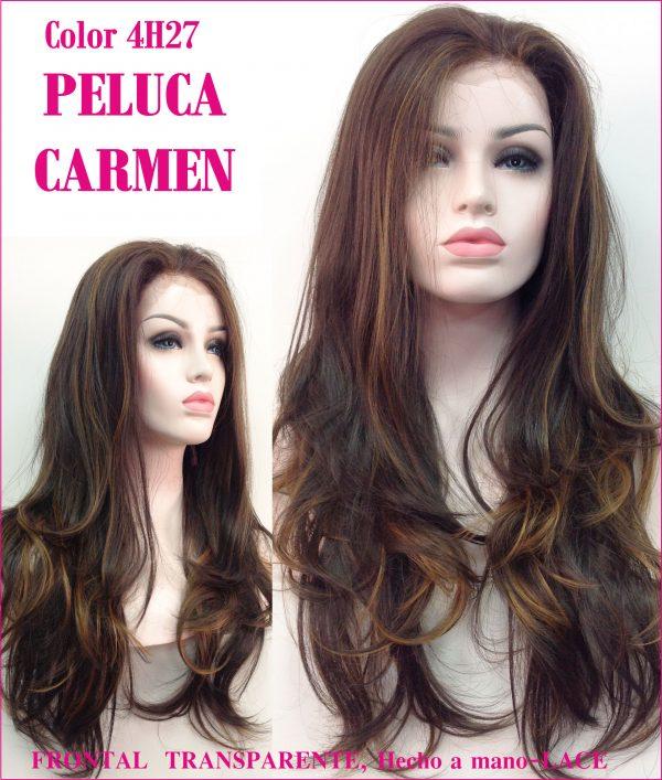 peluca lace front larga