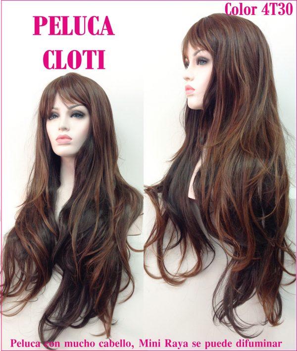 peluca de pelo natural larga ondulada. Una peluca muy elegante, queda muy bonita esta peluca es superlarga, modelo Cloti es un modelo muy solicitado, tiene un cabello sedoso y es muy cómoda de llevar