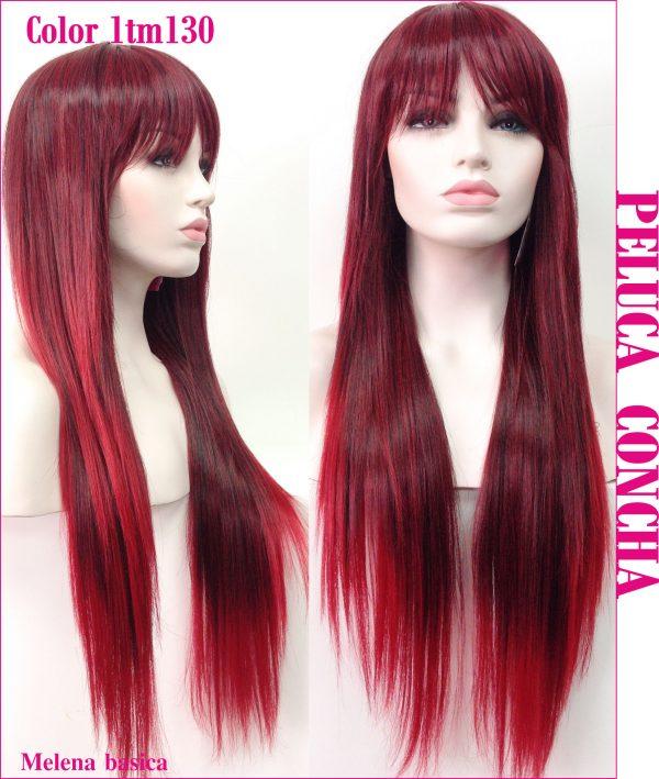 Peluca larga lisa con flequillo. Una peluca muy vendida, todo un clasico en estos ultimos tiempos y que siempre queda bien , peluca modelo Wilmalis es una peluca con bastante cabello por lo que lucirás una melena envidiable.