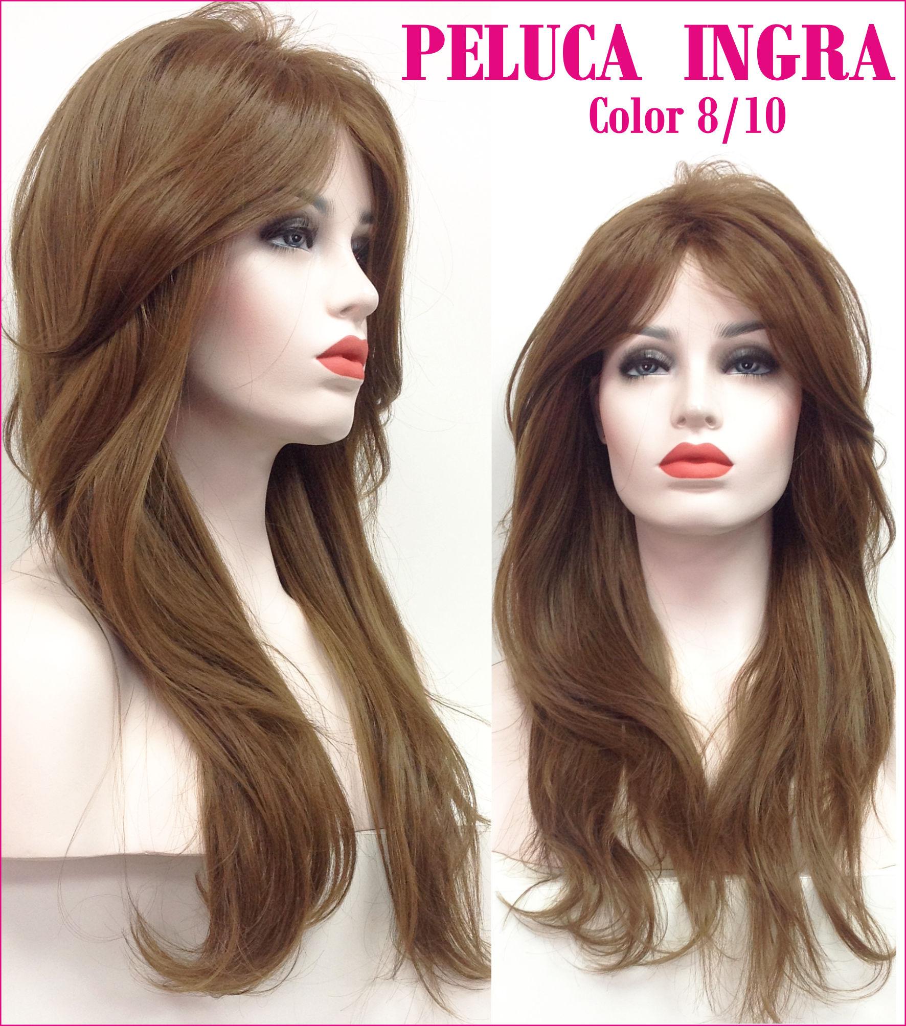 peluca indetectable natural de colageno. Modelo Ingra es una peluca muy elegante , es voluminosa ya que tiene crepé interior.