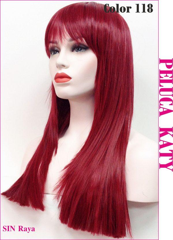 peluca pelirroja de colageno. Una peluca muy demandada, elegante sexy y que siempre queda bien, peluca modelo katy es una peluca con mucho cabello para todas las que nos guste lucir una super melena esta es tu peluca.