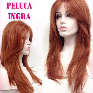 peluca natural, peluca ondulada sedosa, fácil y cómoda de llevar. Una peluca muy elegante , es voluminosa ya que tiene crepé interior. peluca lace front