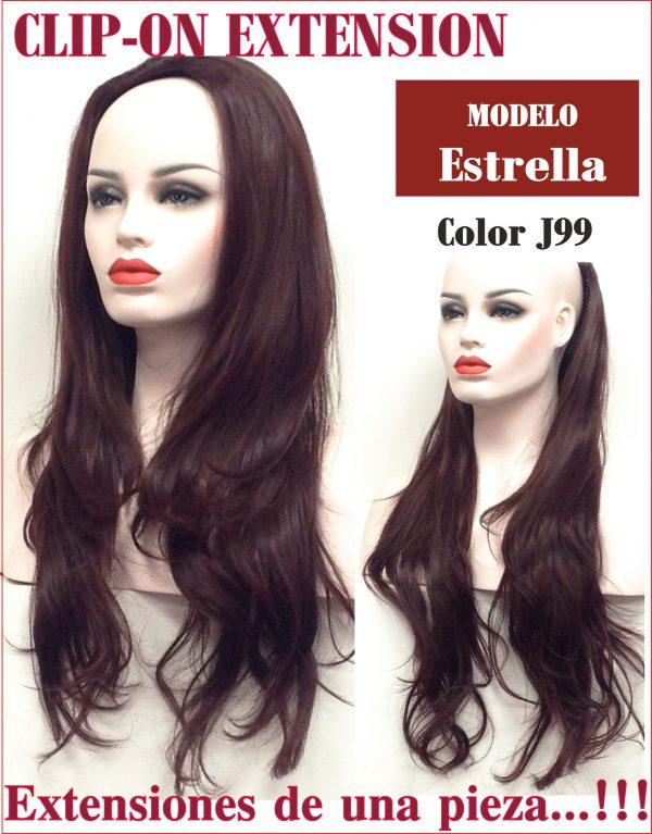 Extensión de peloextensión de cabello de 65 cm de largo, 200 gr de peso una melena instantánea en 3 solos clips!.. Forma lisa degradada con puntas ligeramente hacia fuera.ModeloEstrella