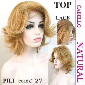 peluca pelo natural cabello humanomodelo Pili es un modelo de cabello 100% natural, esta peluca tiene una medida de 20 cm de largo, elegante y sexy