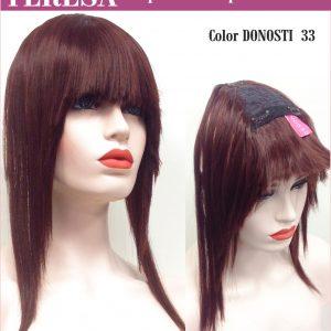 Flequillo largo con sujeción por clips. Teresa es un flequillo con sujeción de clips, es genial ahora ahora no tendrás necesidad de cortar tu cabello puedes saber como puede quedarte de bien un flequillo.