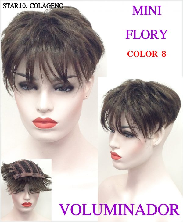 Closure marron voluminizador marron. Su peinado es con volumen , tiene un importante flequillo también entresacado, tiene un movimiento muy natural dando un toque muy atractivo y sensual.