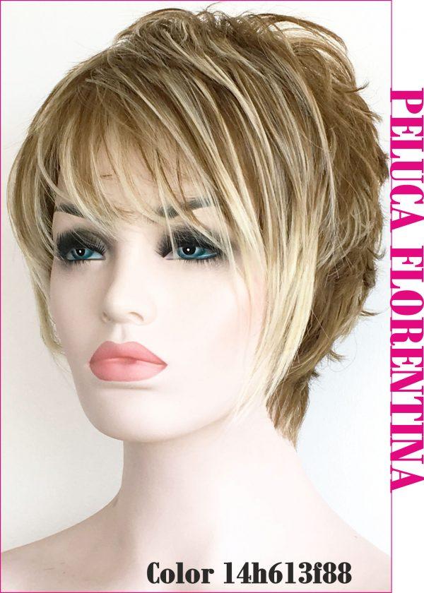 Peluca natural corta con mechas, La peluca mas vendida de la marca, elegante, sofisticada, sexy, divertida...para todo tipo de personas mayores con estilo ademas de personalidad.