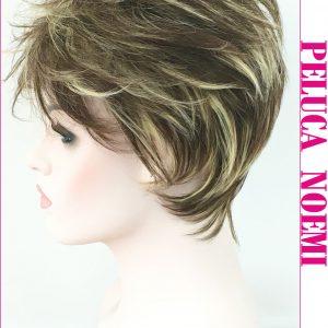 peluca corta muy natural con un toque informal, desenfadado y para uso muy casual, pelu a Noemí, es fantastica para las que nos gusta la comodidad