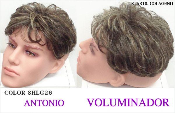 Voluminador peluca hombre . peluquin voluminador caballero. Modelo Florentino. Resistente al calor, con proteína de colágeno star 10. modelo elegante