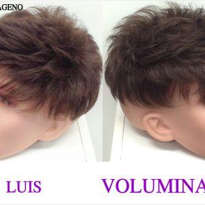 pieza de cabello hombre voluminador . peluquin voluminador caballero. Modelo Luis. Resistente al calor, con proteína de colágeno star 10. modelo elegante