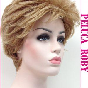 Peluca corta con volumen degradada. Roby es un modelo de peluca que tiene mucha cantidad de cabello es perfecta si te gusta verte con volumen