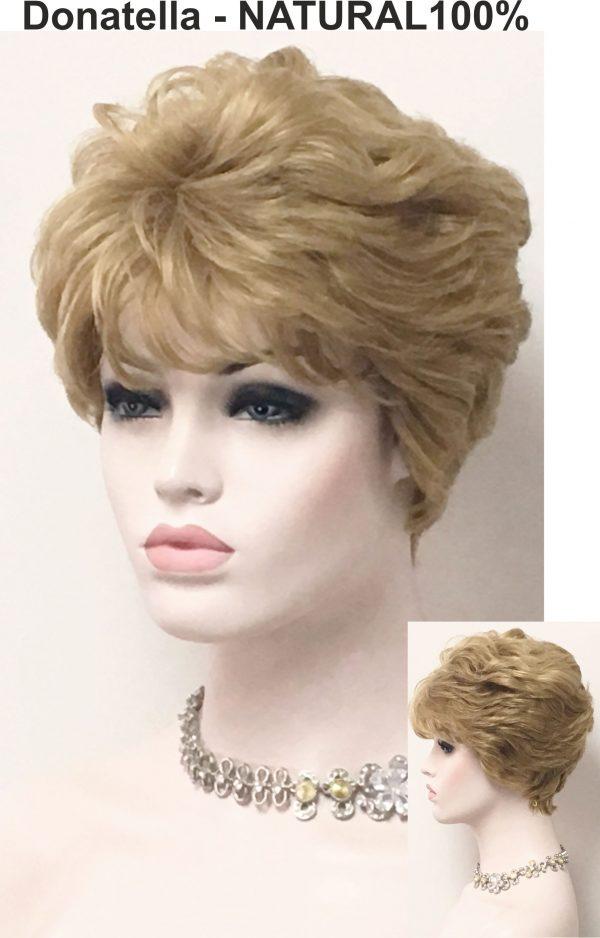 Peluca elegante corta pelo humano Peluca elegante corta pelo humano. Es una peluca de cabello humano 100%. No tiene un exceso de cabello así nos sentiremos más cómodas con ella. Donatella es una peluca corta de un estilo clásico, muy solicitada para señoras entradas en años ... y también mas jóvenes.