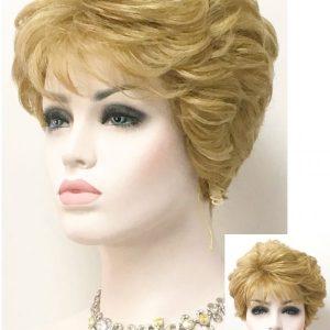 Peluca de cabello natural. Donatella es una peluca corta de un estilo clásico, muy solicitada para señoras entradas en años ... y también mas jóvenes.Tiene un estilo de peinado con ondulación en las puntas, dando así un peinado elegante y sofisticado.