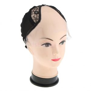 Casco transpirable pelucas tirantes ajustables. Casquillo de encaje para tejer pelucas para hombres y mujeres. Accesorios redecilla de malla para fabricar pelucas de pelo corto y pelucas largas. Casquillo para fabricar pelucas lace front, cosidas a mano o monofilamento