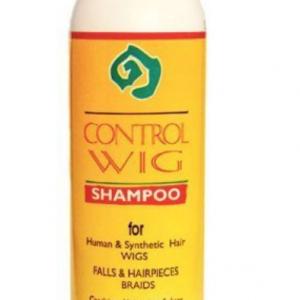 Champu especial para pelucas Champu especial para pelucas. Hidrata y nutre el cabello con tacto sedoso. Champu especial para pelucas. Control Wig Spray 3 en 1 es especial para pelucas de pelo humano y sintético. Formula 12 fl Oz. frasco de 355 ml.