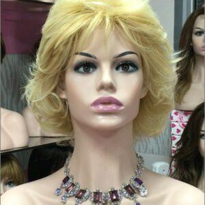 pelucas para alopecia perdida de cabello, por problemas en tratamiento de quimioterapia.Peluca corta mujer estilo elegante y clásico