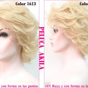 peluca sintética corta con volumen, peluca resistente al calor. Peluca con volumen realista. Peluca Akila es un modelo pensado para señoras entradas en años, que a la vez les gusta verse con un toque moderno, pero siempre en una línea elegante, peluca parecida al cabello humano, no se enreda, sin brillo y de aspecto sedoso.