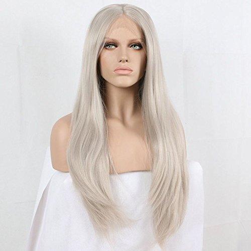 peluca indetectable rizada cabello liso