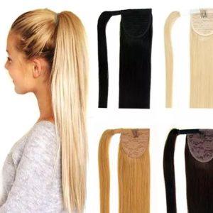 coletero Cola caballo ponytail pelo humano.Coletero de pelo humano, ccola de caballo natural disponible en varios colores negro, marron castaño claro y rubio medio, pelo 100% cabello humano.