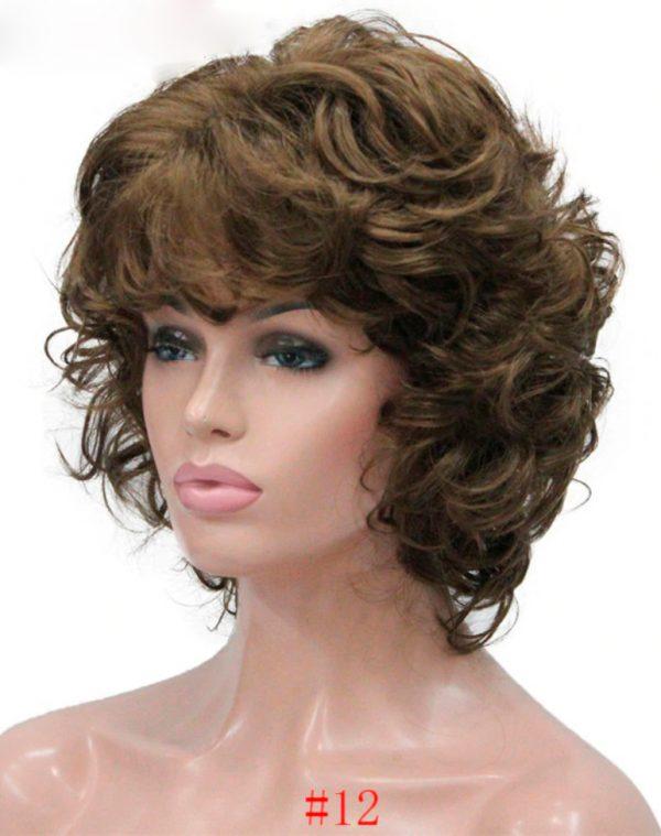 peluca morena oncologica rizada peluca morena oncologica rizada. Esta peluca además de ser muy elegante se ve muy natural. Pelucas rizadas cortas elegantes. Puede elegir el color que mas vaya con su cutis. Es una peluca que le hará verse más bella y atractiva con mucha clase.