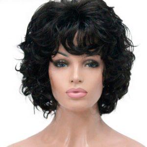 peluca morena oncologica rizada. Esta peluca además de ser muy elegante se ve muy natural. Pelucas rizadas cortas elegantes. Puede elegir el color que mas vaya con su cutis. Es una peluca que le hará verse más bella y atractiva con mucha clase.