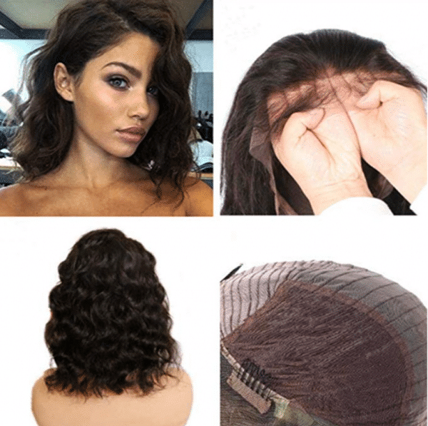 peluca monofilamento encaje indetectable marron pelo humano