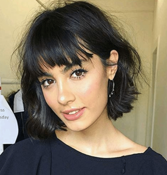Linda peluca natural pelo marron lace frontal