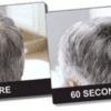 Fibra de pelo en polvo dando volumen al cabello Fibra de pelo en polvo, Hecho de proteína de queratina natural y coloreada que se carga de forma estática adhiriéndose a tu cuero cabelludo.