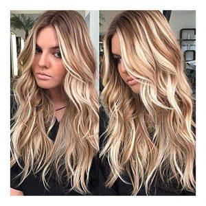 peluca elegante mechas cabello largo. Peluca de alta calidad de fibra de resistencia al calor hasta 150º. Te sorprenderá la calidad, tan real como el cabello humano. Se ajusta a todos los tamaños. Apta para la mayoría de las personas ya se adapta a diferentes tamaños de cabeza. Esta peluca viene con la correa elástica que impide que la peluca se mueva.