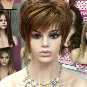 peluca corta naturalpelo humano