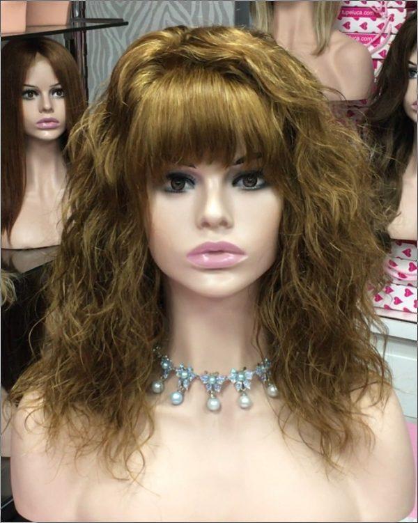 peluca natural pelo humano color marrón castaño claro
