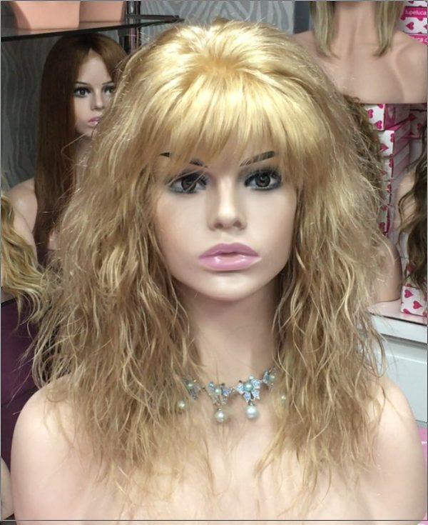 Lenny peluca natural cabello humano. Color rubio claro