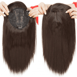 closure pieza de pelo protesis. Modelo de prótesis Irina El cabello con proteína de colágeno es resistente al calormáximo 130º El largo mide 45 cm. Media melena con flequillo recto, Fácil de mantener y lavar.