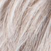 Blanco plateado puro con 10% marrón medio y blanco plateado con 5% de mezcla marrón claro