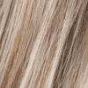 """Base de rubio ceniza medio con reflejos de platino """"perla"""" blanquecino y raíces de rubio ceniza oscuro"""