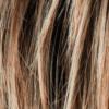 Castaño claro, rubio miel claro y marrón rojizo claro mezcla y raíces oscuras